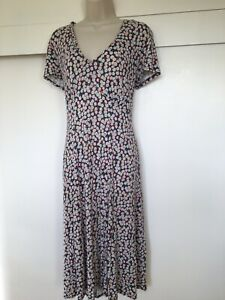 Brora Daisy Print Knee Length Viscose   Dress Fit And Flare Size 14
