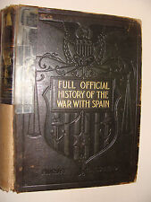 1899 Full Official History of the War With Spain Murat Halstead subscription ed.