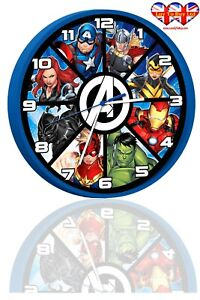 Avengers  Wall Clock, Children's Wall Clock, Officially Licensed
