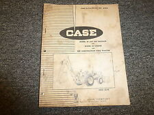 Case 33 33S Backhoe and 33 Loader for 580CK Tractor Parts Catalog Manual A966