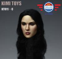 【IN STOCK】1/6 BLACK Hair Female Head Sculpt KIMI KT011C for 12'' PALE Phicen