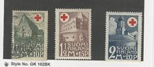 Finland, Postage Stamp, #B5-B7 Mint & Used, 1931