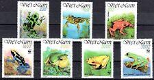 WWF GRENOUILLE Viet Nam 7 val de 1991 ** LUXE PORT OFFERT - FROG FROSCH RANA