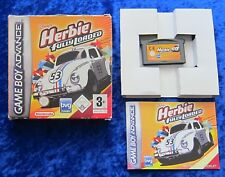 Herbie fully loaded, GBA GameBoy Advance juego, instrucciones OVP