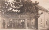 RPPC Postcard Family Outside House With Dogs c. 1900s