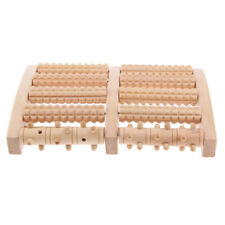Large Travel Wood Foot Massage Roller Wheel Shiatsu Acupressure Reflexology