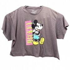 Vintage 80's Mickey Mouse Womens XL Crop Top Disney