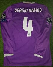 SERGIO RAMOS SIGNED Final CARDIFF MATCH WORN Real Madrid shirt player issue