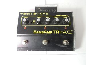 Tech 21 Tri AC A.C. 3-Channel Programmable Distortion Effects Pedal PLEASE READ