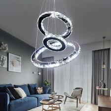 Modern LED Crystal Light Round Chandelier Pendant Lamp Ceiling Chandeliers