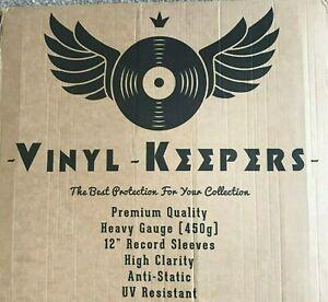 "75 x 12"" Inch LP Album Vinyl Keepers Polythene Record Sleeves Heavy Gauge 450g"