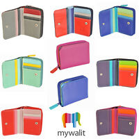 Mywalit Small Leather Womens Wallet With Zip Around Purse In Various Colours 226