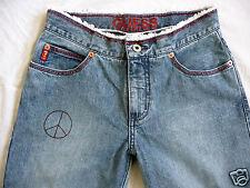☮☮☮ GUESS Hippie Jeans 7/8 taglia 26 (IT 40) peace ☮☮☮
