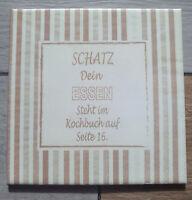 Dekofliese Wandbild Bildfliese Essen Spruch Redewendung (055DP) Decoupage Fliese