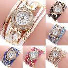 Fashion Women Retro Rhinestone Crystal Bracelet Dial Analog Quartz Wrist Watch