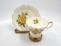 Royal Albert Bone China Rosemary Sweetheart Roses Yellow Tea Cup & Saucer