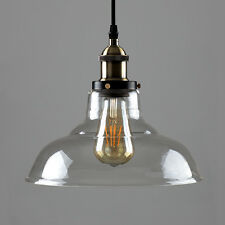 Modern Industrial Vintage Loft Style Ceiling Light Fittings Glass Pendant Shade Wallace No