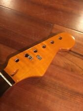 Aftermarket Rosewood Strat Neck for Fender Stratocaster Flame Maple Abalone