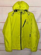 Mens SPYDER Thinsulate Full Zip Up Jacket Snow Ski Snowboard Coat Yellow Small S