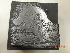 Printing Letterpress Printer Block Decorative Raccoon Print Cut