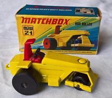 MATCHBOX SUPERFAST #21 ROD ROLLER MK 5 YELLOW RED NR MINT BOX HIGH SPEED ROLLER