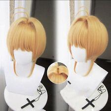 Card Captor Sakura CLEAR CARD Kinomoto Sakura Cosplay Wig + Wig Cap