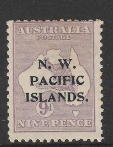 N.W. Pacific Islands : 9d. Violet Kangaroo Stamp - 2nd Watermark - Mint Hinged