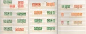1911-34 KGV Downey Head, Royal Cypher & Block Cypher Control Strips Collection