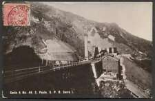 R Photo Brazil Postcard Sao Paulo S.P.R. Serra I Station Train To France