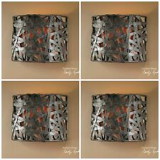 """FOUR 9"""" BLACK METAL WALL SCONCE LIGHT FIXTURES LIGHTS RUSTIC TUSCAN CONTEMPORARY"""