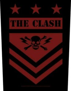 The Clash Military Shield giant sew-on backpatch  360mm x 300mm  (rz)