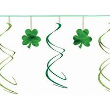 St Patricks Day Shamrocks Swirl Garland Decoration 12ft