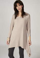 Join Clothes Dip Side Scoop Neck Tunic Mushroom S