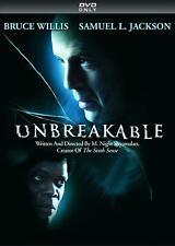 New Unbreakable Dvd The Movie Bruce Willis Samuel Jackson M Night ShyamalaN 2000
