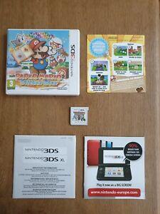 NINTENDO 3DS 2DS - Boite + Notice + Jeu Paper Mario Sticker Star - TBE