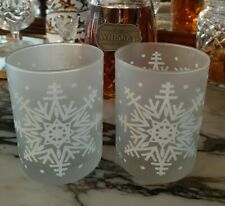 Domostyle for Georges Briard - Double Old Fashioned - Frosted Snowflake Glasses