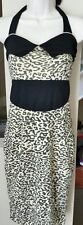 Hot Leopard print Rockabilly dress size 12-14