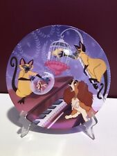 New ListingBradford Exchange Lady and the Tramp Si Am Double Siamese Trouble Plate w/ Stand