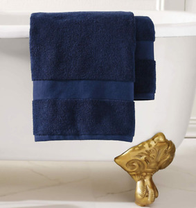 NEW RALPH LAUREN WESCOTT POLO NAVY BLUE LARGE BATH TOWEL 30 X 56