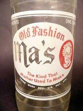 vintage ACL Soda POP Bottle:   MA'S OLD FASHION of MEADVILLE, PA - 32 oz quart
