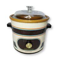 Vintage Rival 3.5 Qt Slow Cooker Crock Pot with Glass Lid 3100/2