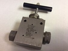 Enerpac 72-7505 2-way manual High Pressure Valve 60,000 psi 316-SS HT-A17445 NOS