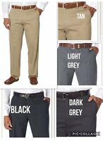 Quality Non-Iron Mens Work Business Trousers Pants. Various Colours. Custom Fit