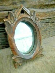 INDIAN Vintage Hand Carved Wooden Mirror / Picture Photo Frame, Collectible