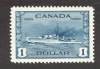 #262 - Canada - 1942 -  $1 - MNH  - VF - superfleas