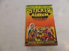 HISTORY OF THE X-MEN STICKER ALBUM Comic - Series 2 - Date 1987 - Marvel Comic