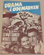 """The Wild North"" Stewart Granger Wendell Corey Danish Original Vtg Movie Program"