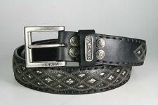 8680 Sendra Wechselgürtel Negro mit Pythonleder Ledergürtel