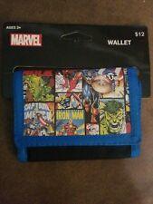Nwt Marvel Comics Classic heroes Vinyl Wallet W/hook & Latch Closure kids teens
