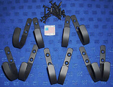 5 sets small plain wall mount Gun rack shotgun hooks rifle hangers felt lined
